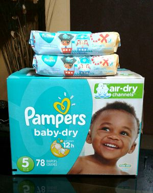 Pampers #5 y wipes $26 for Sale in Gardena, CA
