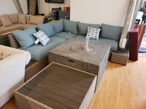 Brand New Patio Furniture Sectional Sofa with two end tables tax included and free delivery for Sale in Hayward, CA