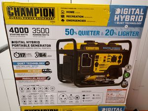 Champion 100302 - 3500 Watt RV Ready DH Series Open Frame Inverter Generator with Quiet Technology for Sale in Chicago, IL