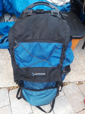 OUTDOOR PRODUCTS External frame backpack hiking camping trekking for Sale in Tampa, FL