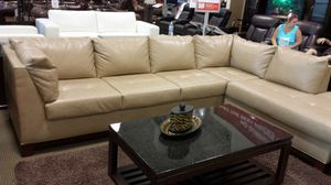 Leather sectional free for Sale in Chantilly, VA