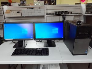 Super Dell Computer Setup with Dual WIDESCREEN MONITORS for Sale in Kennedale, TX