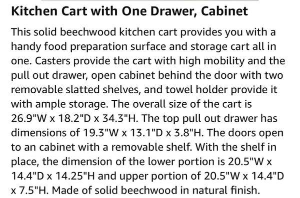 *pending* Rolling Wood Cart