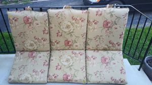 Patio furniture cushions 6 Total 10 a piece or 50 for all for Sale in Eddystone, PA