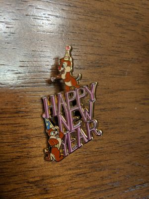Happy New year Disney pin with Chip and Dale for Sale in Glendale, AZ