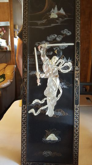 4 --- LAQUER HAND PAINTED & MOTHER OF PEARL PANELS for Sale in Las Vegas, NV