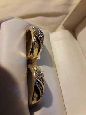 WEDDING BAND SET 14K GOLD RINGS for Sale in Bellflower, CA