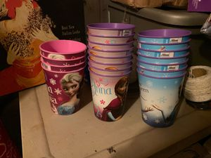 Frozen Anna Elsa cups for Sale in Tampa, FL