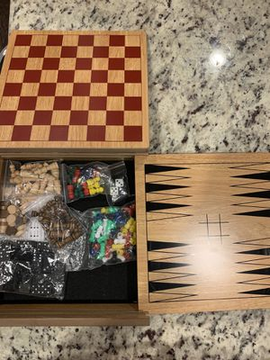 Wooden game board for 7 games for Sale in Morrisville, NC
