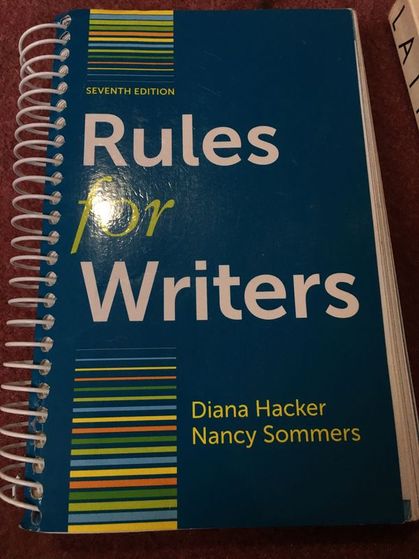 Rules for Writers 7ed by Diana Hacker and Nancy Sommers