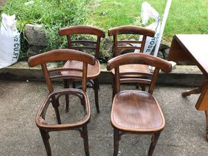 4 solid wood chairs for Sale in Kent, WA