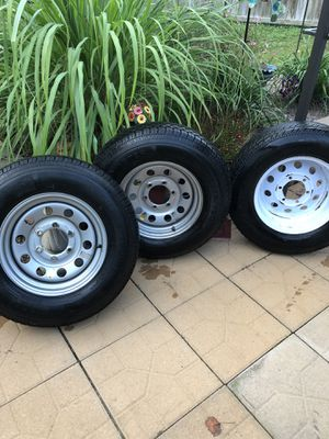 Trailer Tires & Rims ST225/75D15 for Sale in Quinton, VA