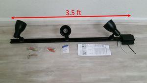 3-Light black track lighting kit for Sale in Las Vegas, NV