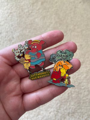 Vintage retired Disney songs pins Winnie the Pooh heffalumps and Woozles and little black rain cloud for Sale in Federal Way, WA