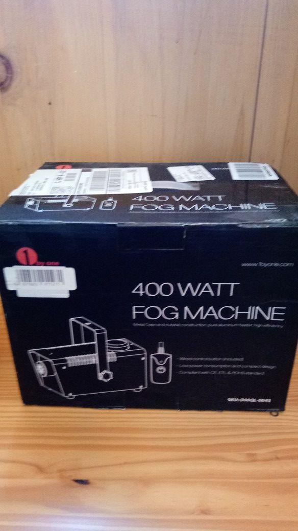 Fog machine with 1 gallon of fog liquid