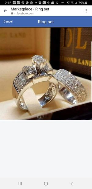 Wedding ring set for Sale in HILLTOP MALL, CA