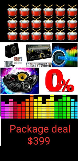 Car audio system Package deal for Sale in San Diego, CA