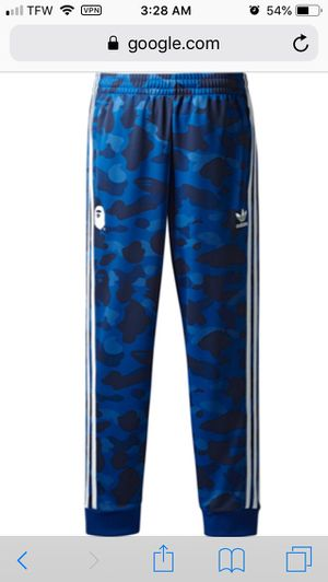 Bape X Adidas Adicolor track pants blue for Sale in Shelbyville, TN