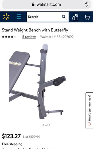 Stand Weight Bench with Butterfly for Sale in Lorton, VA