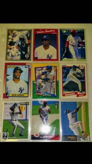 Deion Sanders MLB Baseball Cards - 1990's - Lot of 9 - Mint *see cards - Not Graded. Card, Set, Collection, Collector, Cheap, For Sale Near Me for Sale in Nashville, TN
