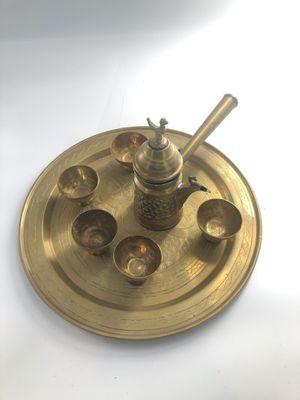 Brass vintage Turkish coffee set for Sale in Wilton Manors, FL
