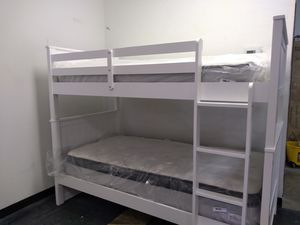 $295 white wooden bunk bed set for Sale in Columbus, OH