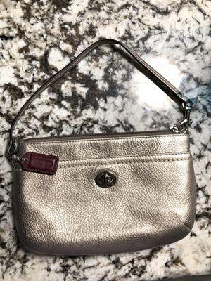 Coach small handbag silver pebble for Sale in Phoenix, AZ