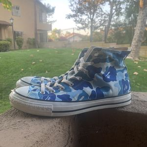 BAPE Bapesta blue camo hi - converse for Sale in West Covina, CA