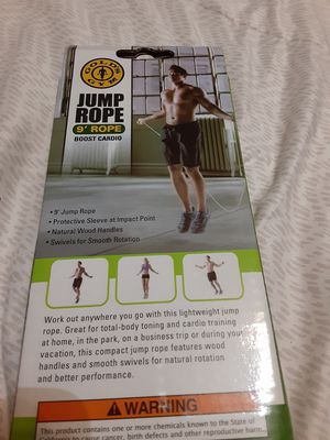 Jump rope golds gym 9' for Sale in E RNCHO DMNGZ, CA
