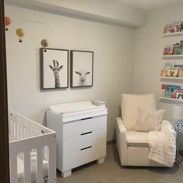 White Floating Bookshelves For Nursery