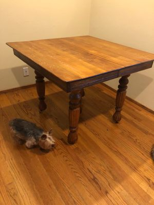 Antique oak table and 4 chairs for Sale in Los Gatos, CA