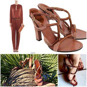 Gucci Rose Anita Metallic Leather/Suede Sandal SZ8 1/2 for Sale in Phoenix, AZ