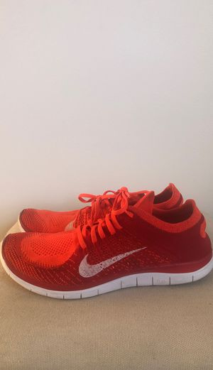 NIKE, men's Free Flyknit 4.0, hardly used, size:10.5, red/red for Sale in Sunnyvale, CA