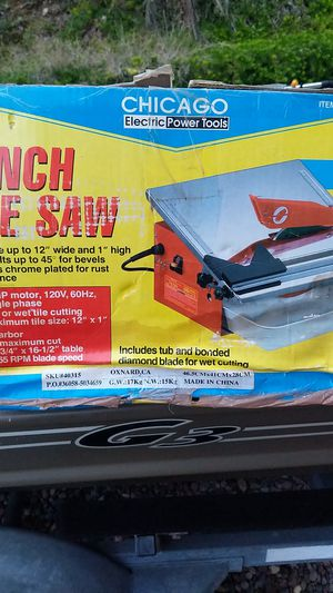 Tile saw for Sale in San Diego, CA