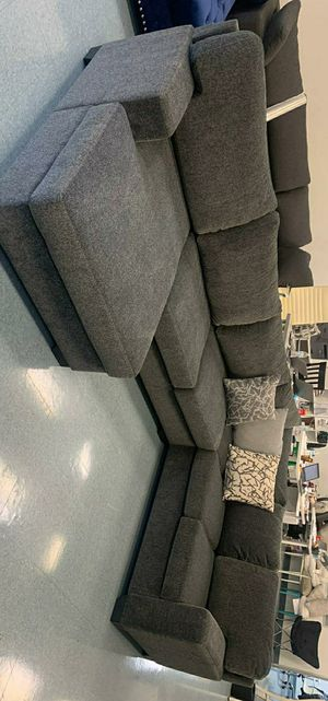 Herman Smoke Sectional / Couch Living room set / oversized Sectional / No CREDİT NEEDED for Sale in Houston, TX
