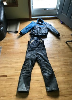 Leather Polaris snowmobile outfit by Hein Gericke men's medium for Sale in Troy, MI