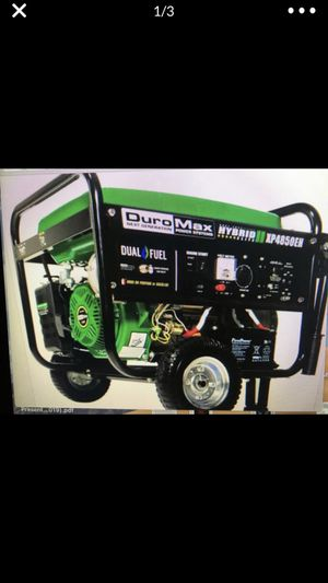 Duromax Generator XP4850EH Duel Fuel Blowout sale for Sale in Boca Raton, FL