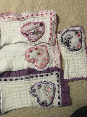 4 Handmade muslim baby mouth cloth for Sale in Boston, MA