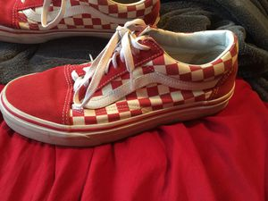Red checkered vans for Sale in Yakima, WA