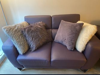 Purple Sofa, Love Seat, & Oversized Accent Gray Chair for Sale in Silver Spring,  MD