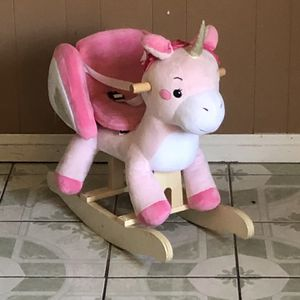 PRACTICALLY NEW UNICORN ROCKING HORSE CHAIR for Sale in Riverside, CA