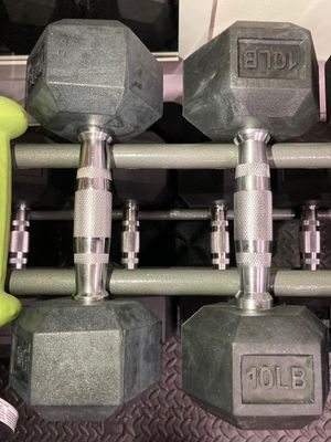 Brand new Pair 5lb and 10lb Hex Dumbbells Now Shipping for Sale in Arcadia, CA