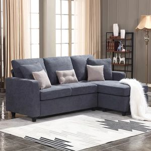 Sylvette Reversible Blue Sofa & Chair with Ottoman for Sale in Winter Park, FL