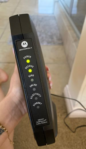Motorola modem SB5101 for Sale in Las Vegas, NV
