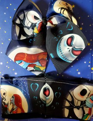 Jack n Sally Hair Bow & Mask /Kids for Sale in Pico Rivera, CA