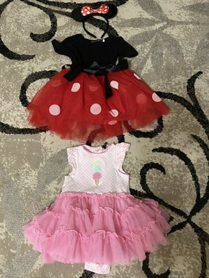 2 Bodysuit Dresses Both Size 12months for Sale in Tampa, FL
