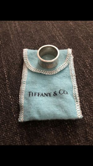 925 Tiffany &Co 1837 wide band ring- size 6.5 for Sale in San Leandro, CA