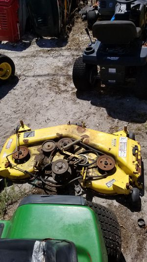 """((48"""" johndeere deck ONLY))riding lawn mower for Sale in Lakeland, FL"""