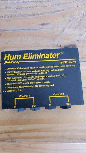 Hum eliminator for Sale in San Diego, CA