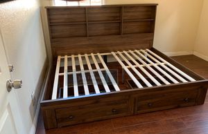 New Full Size BedFrame w Bookcase for Sale in Los Angeles, CA